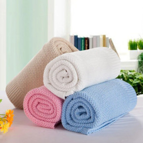 Super Soft Baby-Care Cotton Knit Blanket, factory supply, reusable.