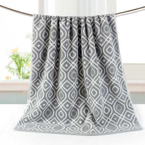 Luxury dyed yarn jacquard bath towel,100% cotton,factory supply,customizable design.