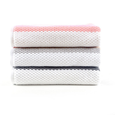 Luxury 100% cotton yarn dyed jacquard stripe gradient colour good quality towel.