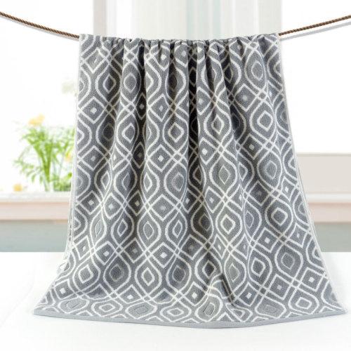 21s/2 luxury yarn dyed jacquard bath towel,100% cotton hotel towel gift towel.