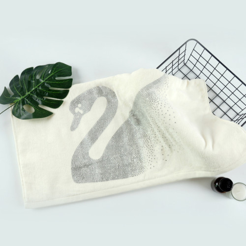 Diamond velvet towel,100% cotton,customizable design,factory supply, reusable.