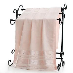 100% cotton plain color diamond velvet towel,factory supply, reusable.