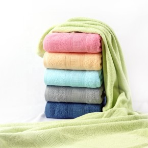 Jacquard border dobby plain colour towel 100% cotton, factory supply, reusable.