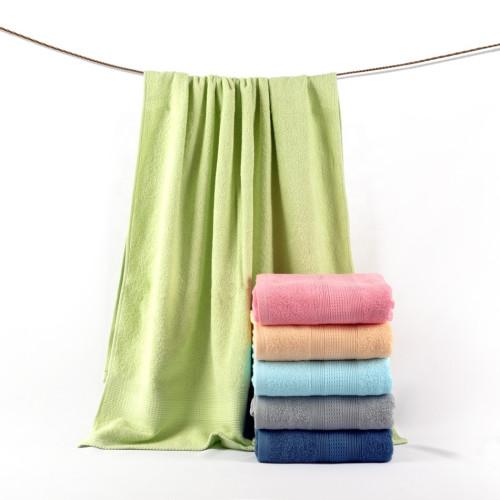 Jacquard border dobby plain colour towel 100% cotton, factory supply, reusable,stain border towel,thick towels