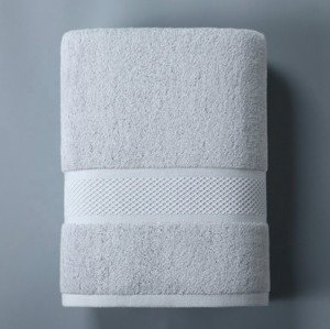 High quality plain color grid jacquard bath towel,100% cotton thick, factory supply, reusable.