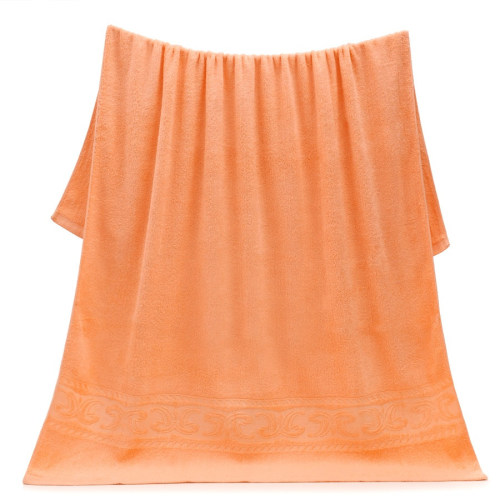 100% cotton jacquard border plain colour soft pile bath towel light colour, factory supply, reusable