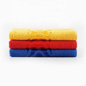 Plain satin jacquard bright colour bath towel,100% cotton, factory supply, reusable.