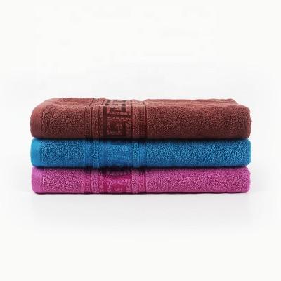 Plain satin gear jacquard men's towel,100% cotton,factory supply, reusable.