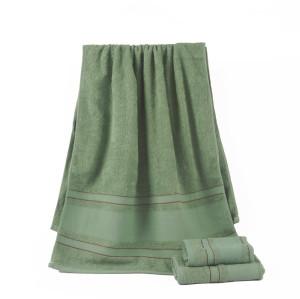 Beautiful plain color satin towel set, 100% cotton, cheap towel factory supply, reusable.