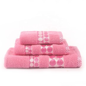 Beautiful plain color satin towel set, 100% cotton, cheap towel factory supply, reusable.