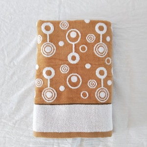 100% Cotton 32s/2 and zero twist yarn dyed jacquard high quality velvet towel good design.