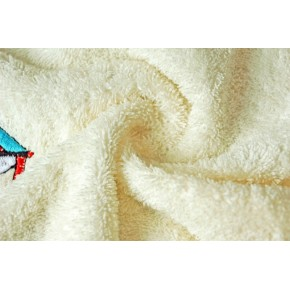One set of sailboat embroidery terry face towel hand towel 100% cotton.