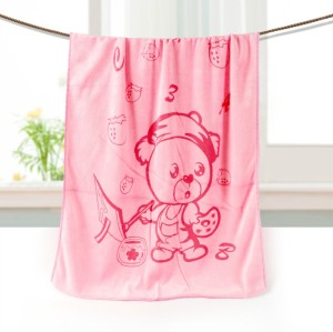 Softer printing children design microfiber bath towel, pigment or active printing quick dry towel.