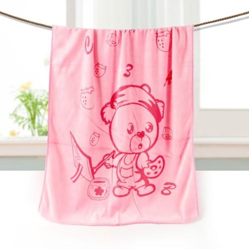 Softer printing children design microfiber bath towel, pigment or active printing quick dry towel.