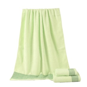 Beautiful plain color satin towel set, 100% cotton, cheap towe, factory supply, reusable.