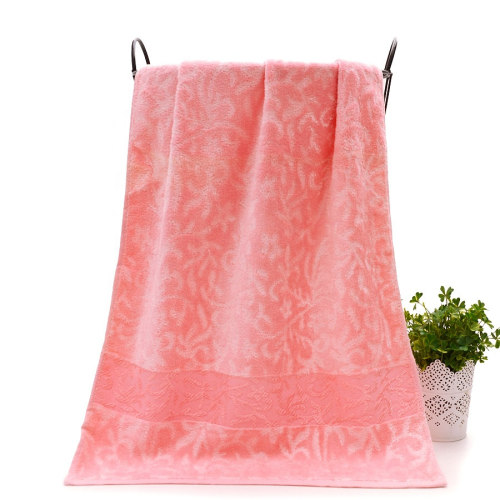 Bamboo and cotton velvet high quality jacquard towel soft and luxury light colour, reusable.