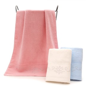 Soft light-colored zero-twist gift towel,factory supply, reusable.