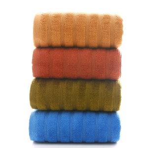 100% cotton plain color jacquard  heavy bath towel,factory supply, reusable.