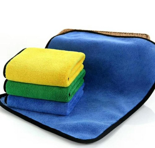High water absorption car cleaning microfiber towel multilayer composite, reusable.