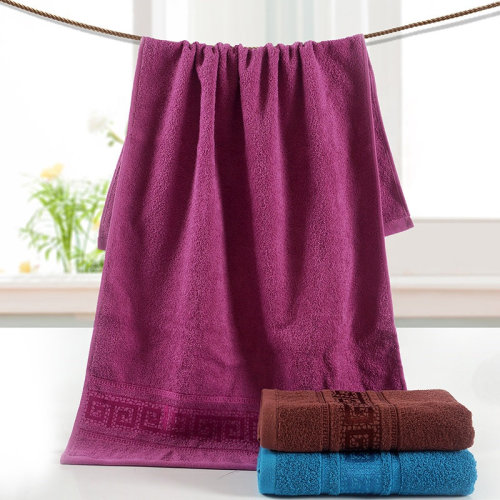 Towel Hot Selling Solid Color Satin Series Plain Weaving 100% cotton  Towels  for Bath