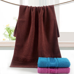 100% cotton plain satin gear jacquard men's towel,factory supply, reusable.