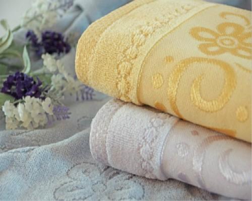 Jacquard beautiful border plain colour velvet towel 100% cotton good design,Towel with Double Border,Double Border Hotel Towel