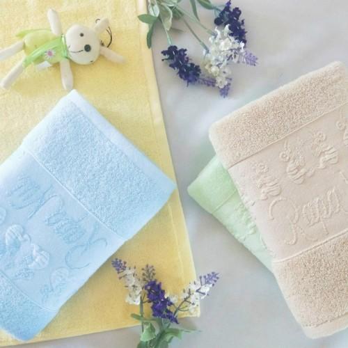 Jacquard funny western border dobby plain colour towel 100% cotton,factory supply.