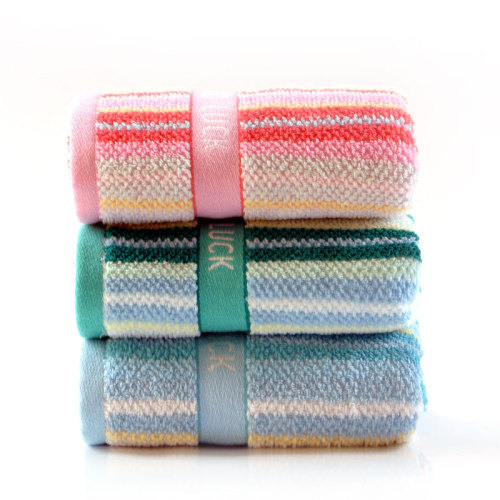 Yarn dyed colourful twill jacquard border logo towel,factory supply, reusable.