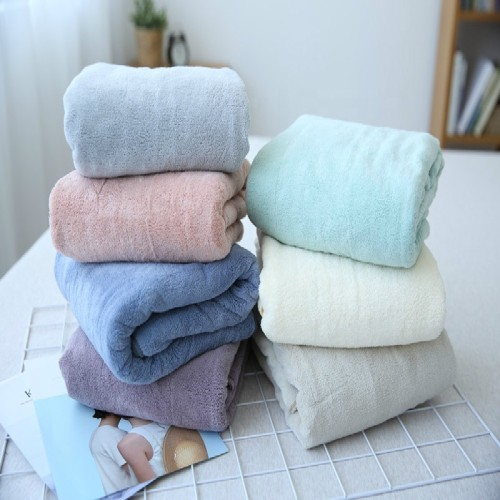 Softer plain color microfiber bath towel,80% polyester 20% polyamide colourful set fast dry.