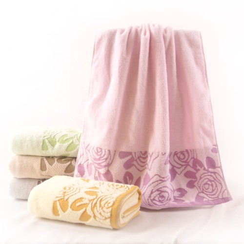 100% cotton printed monochromatic towel, factory supply, can be reused.