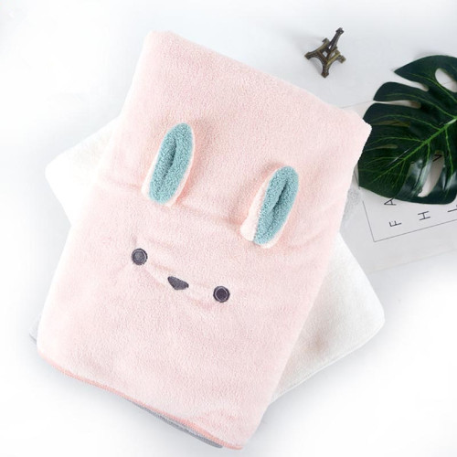 Microfiber cute animal design embroidery coral fleece towel children towel Good water absorption.