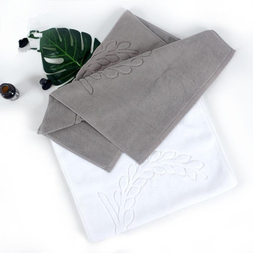 Olive branch design plain color jacquard bathmat antiskid durable for hoteland home bath room.