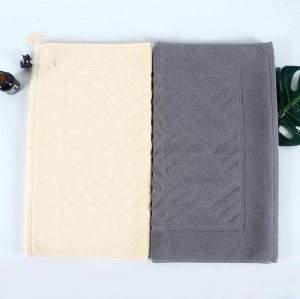 100% Cotton plain color jacquard bathmat antiskid durable for hoteland home bath room.