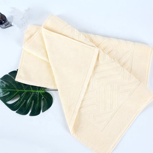 100% Cotton plain color jacquard bathmat antiskid durable for hoteland home bath room.