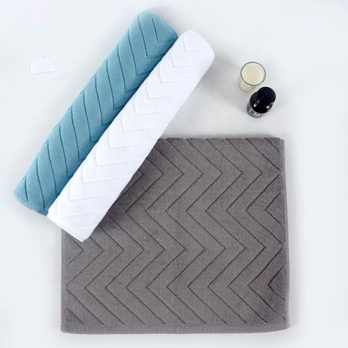 Plain color jacquard bathmat antiskid durable for hoteland home bath room,factory supply, reusable.