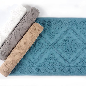 European pattern plain color jacquard bathmat antiskid durable for hoteland home bath room.