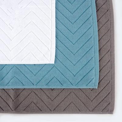 100% Cotton classic plain color jacquard bathmat antiskid durable for hoteland home bath room.