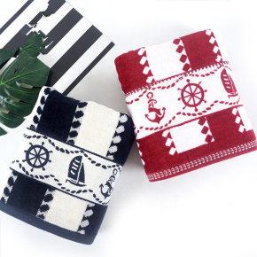 Luxury 21s/2 velvet yarn dyed satin bath towel 100%cotton boat design,customizable design,