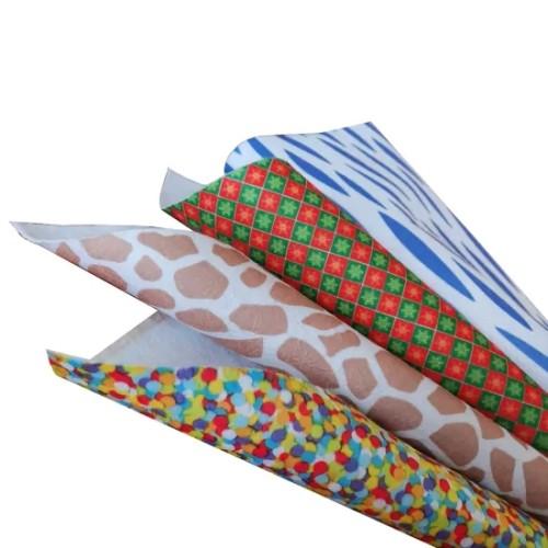 Fabric Cloth Blue Printe 100% Polyester Fabric Roll Customized Printed Logo.