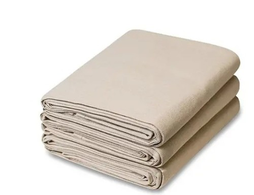 9X12FT Canvas Drop Cloth for Painters, Wood Workers, Plumbers, Movers, Custodians