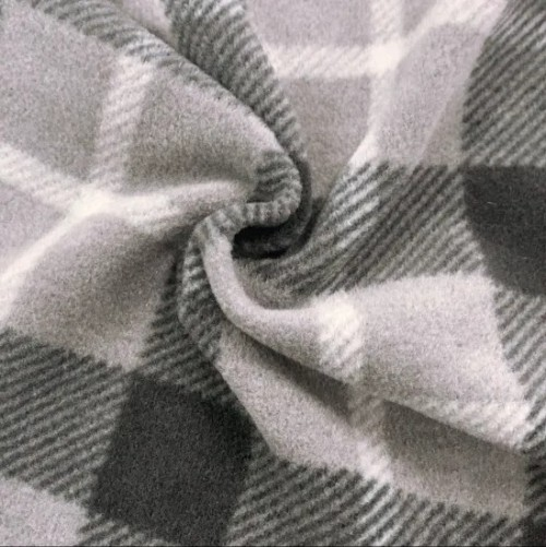 Windproof Anti Pilling Warm Textile Garments Lining Winter Cloth Outdoor Fabric 100 Polyester Printed Plaid Knitted Fabric Double Brushed Polar Fleece Fabric