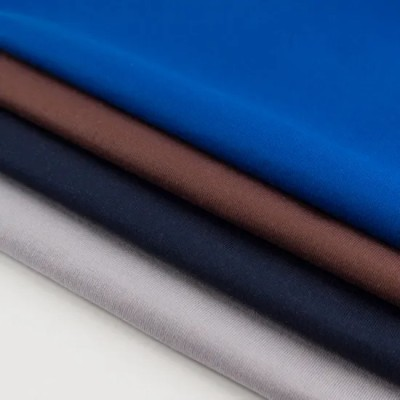 Custom High Quality T Shirt Cloth 50s Double Ply 100 Combed Cotton Solid Color 180GSM Single Jersey Fabric