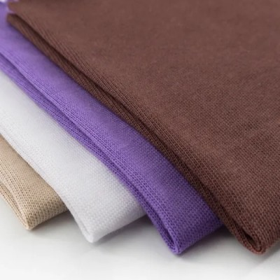 Knitted Breathable Clothing Material Cloth Plain Dyed Solid 100% Pure Cotton Single Jersey Fabric