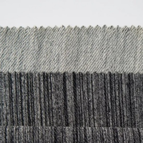Wholesale New Stripe Cloth Polyester/Viscose/Cotton/Spandex Blended French Terry Knitting Fabrics for Apparel