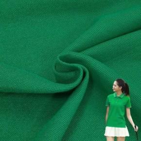China Soft Birdseye Pique Mesh Single Jersey Knitted Fabric 100%Cotton Mercerized Pique Mesh Garment Knit Fabric Birds Eye Pique Mesh Knitted Sportswear Fabric