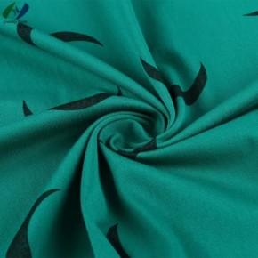 CVC 62/38 159GSM Crescent Printing Warp Knitted Rib Stripe Fabric for Dress
