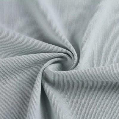 Warp Knitted Technics CVC 66/34 60s*50d Plain Color Rib Fabric for Garment/T-Shirt/Dress
