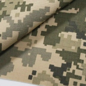 Rayon65/Cotton35 Water Reppellent Fabric Ripstop Digital Woodland Camouflage Printed for Military Uniform