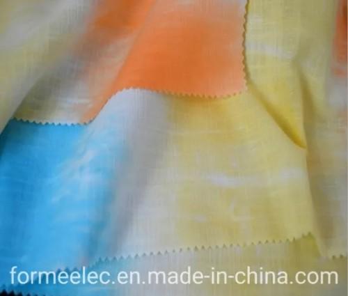 Autumn Clothes Fabrics Spring Garment Fabric 21s 105g Tie Dyed Slubbed Linen Type Fabric