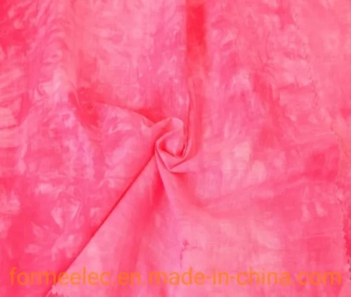 Clothing Garment Fabric Curtain 21s 105g Linen Type Cloth Slubbed Fabric Tie-Dyed Fabrics
